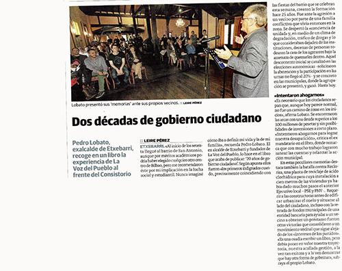 Artículo publicado en El Correo